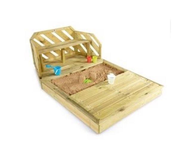 Premium Træ Sandkasse og bænk